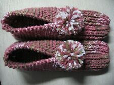 """New listing Nwot Amish Handmade House Slippers Pink Rose Camo Mix Wms Large Mans Med 9 1/2"""""""