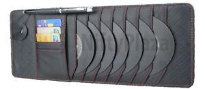 Sun Visor CD DVD Holder Card Case 12 Disc Slot Storage Bag Auto Car Multi Pocket