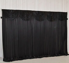 3Mx3M Black Wedding Backdrop Curtain with Swag for SALE (10ftx10ft)