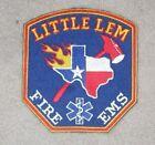 """Little Lem Fire Dept Patch - Texas - 3 7/8"""" x 4 1/4"""""""