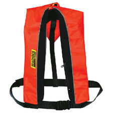 Red and Black Polyester Manual Inflatable Type V PFD Safety Life Vest for Boats