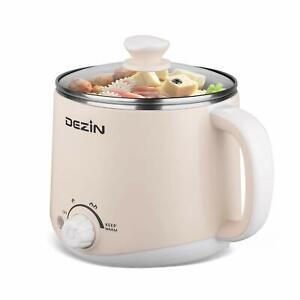 Dezin Electric Hot Pot Rapid Noodles Cooker Stainless Steel Mini Pot Perfect ...