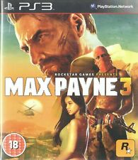 Max Payne 3 Sony Playstation 3 PS3 18+ Action Adventure Shooter Game