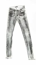Rock & Republic SKINNY BITCH Black White Coated Jeans NWOT - Sample SZ 25