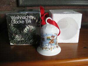 """Hutschenreuther Weihnachtsglocke 1984 """" Fischerdorf """" TOP / OVP Sonderpreis"""