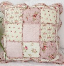 Shabby Chic Cushion Throw Pillow Cover Sham Pink Cream Green 45cm
