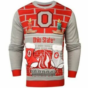 New Ohio State Buckeyes Football 3d Ugly Christmas Knit Winter Sweater S Mens