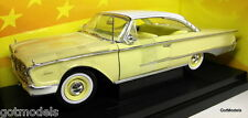 Ertl 1/18 Scale 32299 1960 Ford Starliner Yellow / White Roof  Diecast Model Car