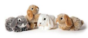 weicher Plüsch Hase 18cm liegend Stofftier Plüschtier Kuscheltier Kaninchen Tier