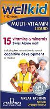 Vitabiotics WellKid Multi-Vitamin Liquid 15 Vitamins & Minerals Orange Flavour