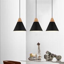 3X Black Ceiling Light Wood Lamp Modern Pendant Lights Home Chandelier Lighting