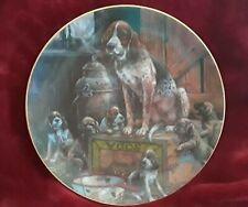 Vintage 1980 Lowell Davis Fox Hound dog puppies Plate 7421