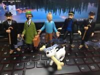 6 PCS Adventures Of Tintin Action Figures Captain Haddock Figure Toy