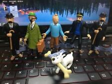 6 PCS Adventures Of Tintin  Action Figures Captain Haddock