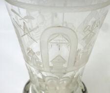 peu ordinaire d'origine Franc Maçon verre um 1900 maçonnique