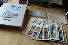 DISNEY STAMP COLLECTION - EARLY 1980'S TOTAL 38 SETS OF STAMPS / FDC'S W/ SS