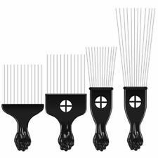 Peigne Afro Dents Metal Peigne cheveux Afro Cheveux Naturel Nappy Hair