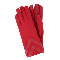 New Isotoner Women's Spandex Chevron Winter Driving Gloves