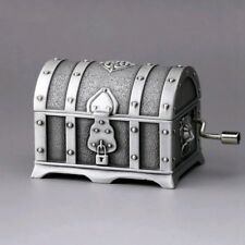 CLASSIC  TIN ALLOY  PIRATE TREASURE CHEST  MUSIC BOX ♫ GREENSLEEVES ♫