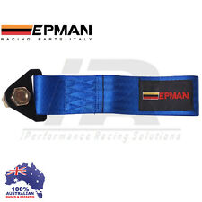*BLUE* Universal Epman Tow Strap CAMS COMPLIANT Eye Hook Point Track Race JDM