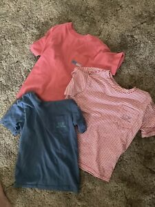 Vineyard Vines boys 5 lot of 3 shirts red blue