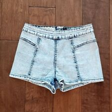New Pacsun Hot Short Bullhead Denim Size 0 Coachella Acid Wash Festival Shorts
