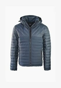 Superdry TWEED MIX FUJI - Men's Winter jacket Reduced- Navy & charcoal