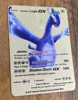 SHADOW LUGIA GX Custom Gold Metal Card ~ Pokemon Style Collectable Card 🔥