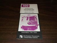 JUNE 1981 SEPTA ROUTE 100 NORRISTOWN HIGH SPEED LINE PUBLIC TIMETABLE