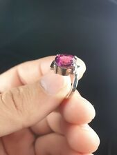 Pink Tourmaline Ladies Ring  in Sterling Silver 925 2ct Sizes 7-8.5