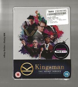 KINGSMAN : THE SECRET SERVICE - UK EXCLUSIVE BLU RAY STEELBOOK - NEW & SEALED