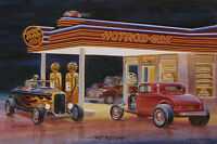 Hot Rod Gas Jack Schmitt Service Station Retro Automotive Metal Sign