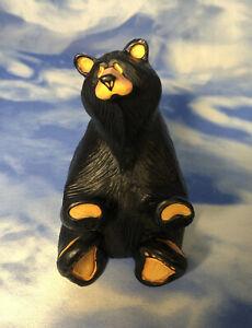 """Bearfoots Jeff Fleming """"Handy"""" Black Bears Figurine Business Card Pen Holder GUC"""