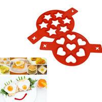 Pancake Flipping Silicone Mold Nonstick Baking Waffle Egg Cake Perfect Form DIY