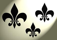 Shabby Chic Stencil Vintage 3 Taglie Fleur De Lys Lis francese di base a4 297x210mm