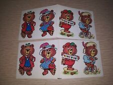 Vintage Set of 2 1987 TOYS R US Fun Bears Stickers Post Cereal Premium Prize Toy