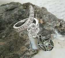 Pentacle Ring, wiccan pagan wicca witch witchcraft pentagram goddess magic