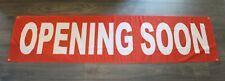 New Opening Soon Sign Now Open Coming Flag Big 2' x 8' feet Outdoor Vinyl Mesh