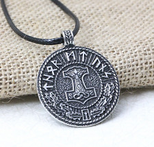 Norse Viking Thor's Hammer Rune Pendant Necklace