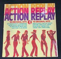 ACTION REPLAY -  LP VINYL  18 Original Hits - K TEL ACCEPTABLE CONDITION