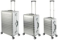 Komplett Aluminium Koffer 3er Set - Reisetrolley Hartschale Reisekoffer Silber