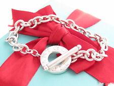 "Auth Tiffany & Co Silver Toggle Bracelet 7.75"""