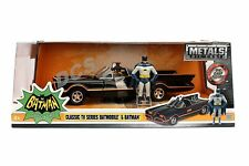 JADA METALS CLASSIC TV SERIES 1966 BATMOBILE 1/24 with BATMAN ROBIN FIGURE 98259