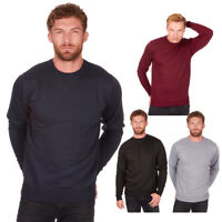 Men's Long Sleeve Crew Neck Jumper Sweater Pull Over Sizes M-2XL Pierre Roche
