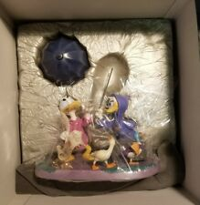 "RARE WDCC ""Looks Like Rain"" - Disney's Fantasia 2000, Donald & Daisy w/COA NRFB"