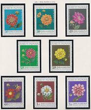 VIETNAM N°351/358** Fleurs DAHLIAS, 1980 Vietnam 1202-1209 Flowers MNH