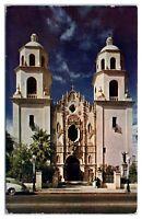 1949 San Augustin Cathedral, Tucson, AZ Postcard
