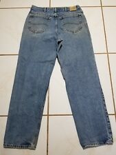 Lee Jeans Premium Select Blue Denim Relaxed Pants 34x31* Distressed* B1538