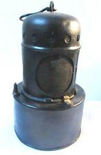 VICTORIAN EARLY EDWARDIAN ANTIQUE RAILWAY LAMP OIL LANTERN SHERWOODS WICK