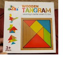 Wooden Tangram / Geometry / Brain Teaser Puzzle Math Montessori Education USA